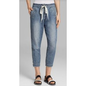 Free People Blue Easy Chambray Harem Pants